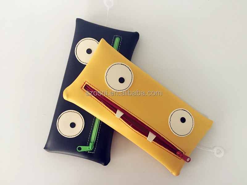 New Design Dustproof Glamour Pencil bag with big eyes pattern
