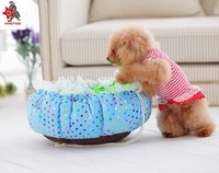 Soft Round Plush Cartoon Pet bed pet beds for dogs Plush Dog Bed