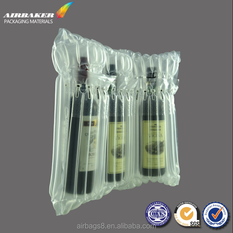 red wine Inflatable Packaging Air Bag Pouch Cushion Protective Shockproof