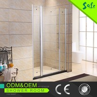 Free standing bath screen shower hinge for glass