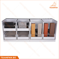 Durable Showroom Wood Tile Sample Display Cabinet Wooden Display Rack