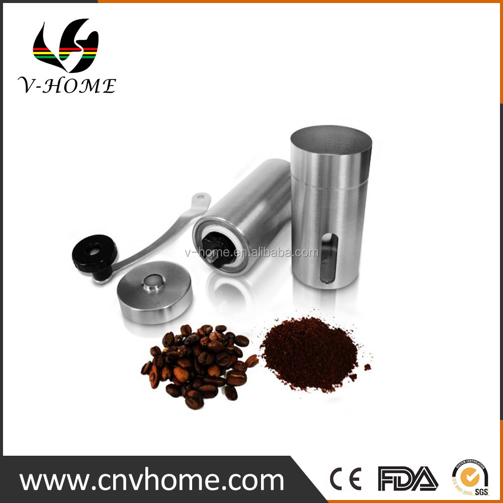 Premium Chrome New Design Home use Stainless steel Coffee Bean Grinder