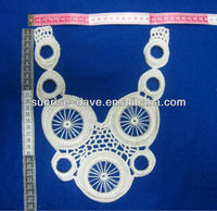 machine made lace with rubber ring