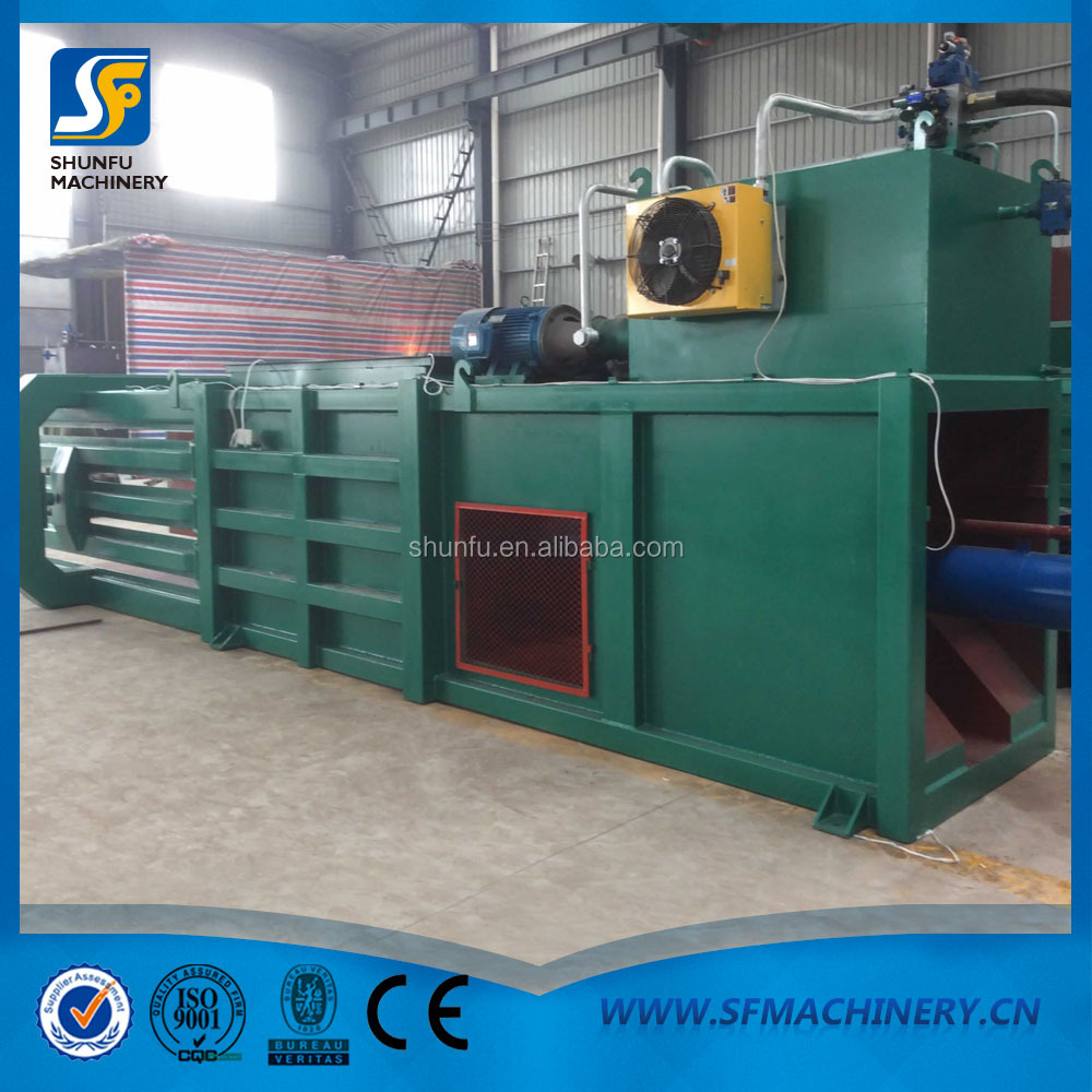 Waste paper carton recycling plastic baler horizontal packing machine for sale price