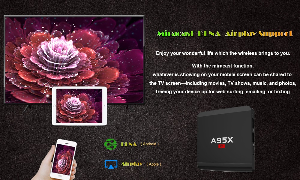 A95X R1 Ultra HD 4K Quad Core RK3229 TV Box Cheapest Android TV Box
