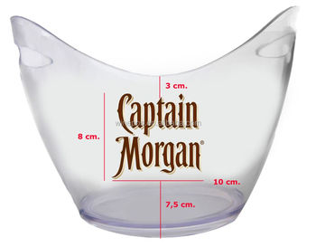 Ice bucket, Plastic ice bucket, promotion ice bucket, JW bucket, captain morgan bucket
