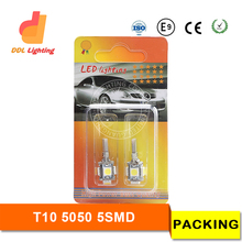 High Quality LED Car Side Light 6000K White 12V T10 Canbus 5SMD 5050 194 W5W T10