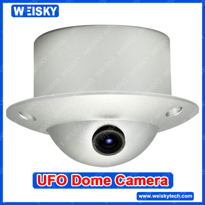 WEISKY Hidden Dome sharp CCD 420TVL Wide Angle UFO Indoor Security Camera
