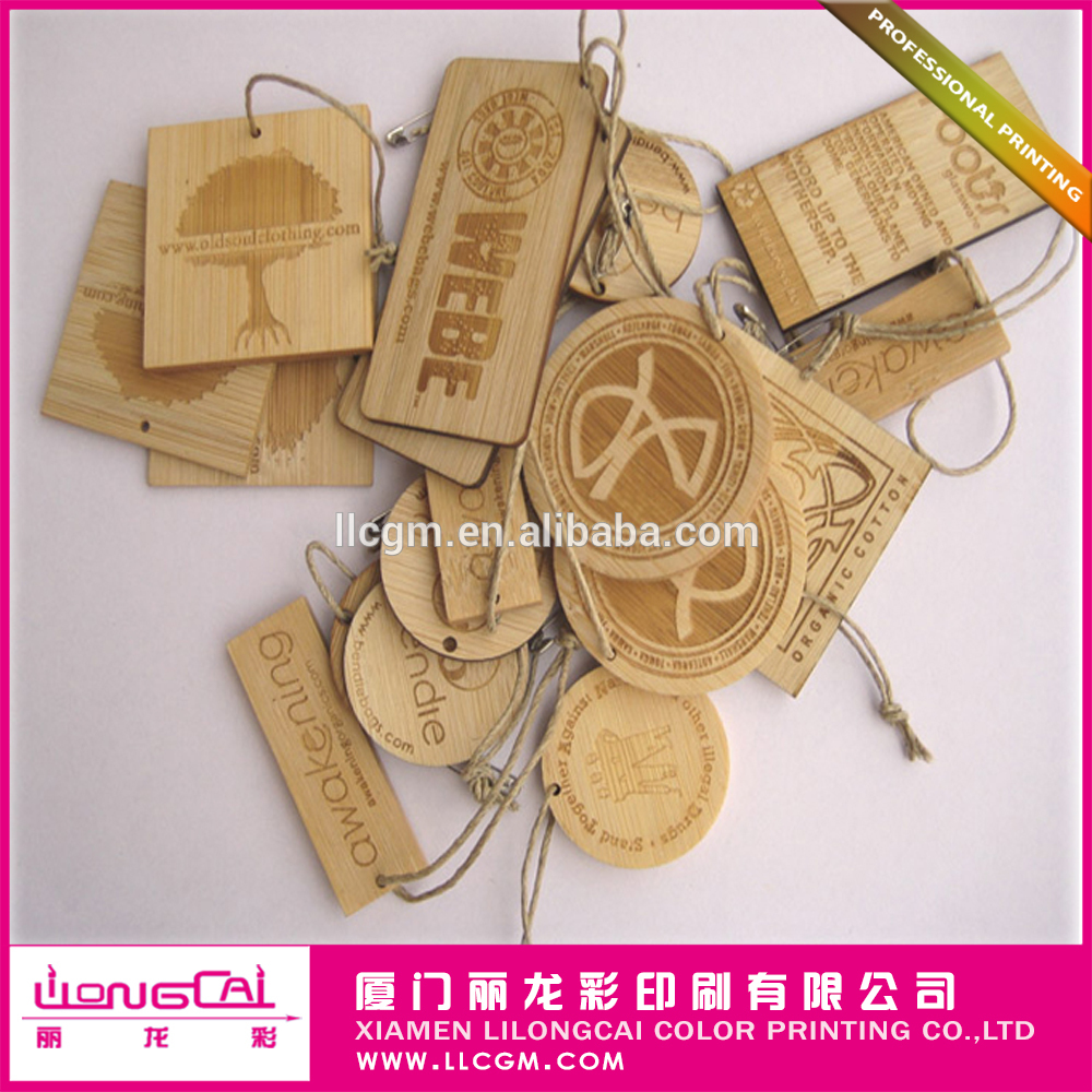 Factory Cheap Custom Wooden Kraft Hangtag for Clothes Food Cosmetic