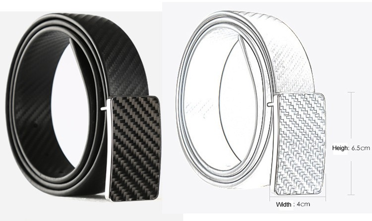2017 NEW products! 100% Genuine carbon fiber belt with carbon fiber belt buckle