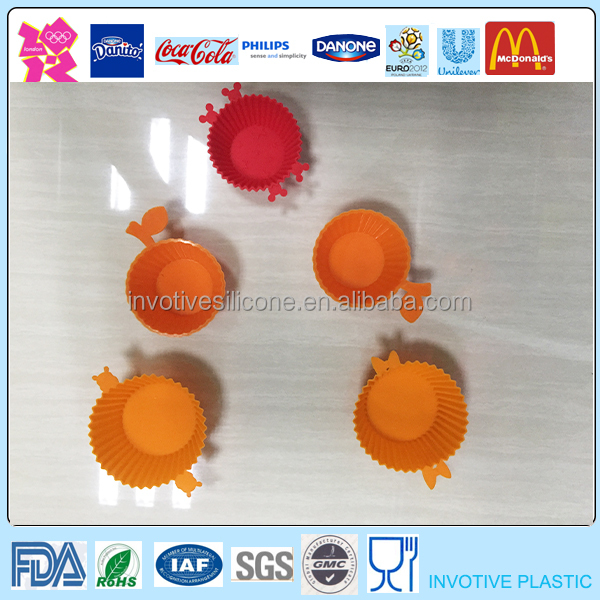 Environmental Friendly 100% Food Grade Special Silicone Pastry Mould,Muffin Case