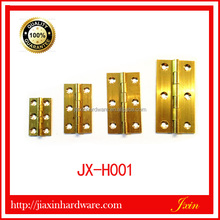Solid brass small barrel hinge for wooden boxes brass cylinder 270 degree furniture hinges