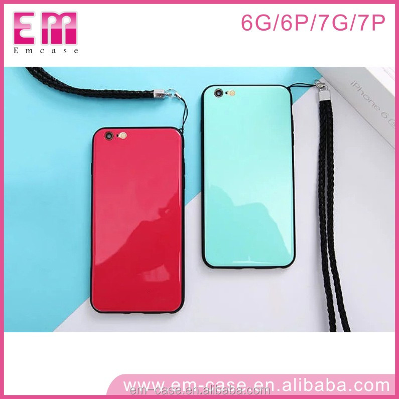 High Quality Sweet Colors Portable Glossy UV TPU Soft Phone Skin for iPhone 7