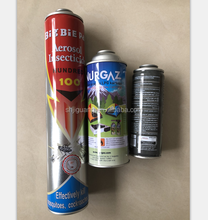 insecticide empty refillable aerosol tin can 65mm, maximum height 380mm