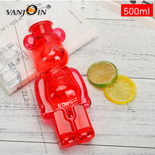 Empty Honey PET Plastic Packing Bottles Teddy Bear Shape Bottle