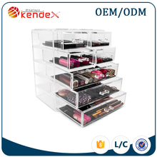 5 tier transparent acrylic makeup drawer for home organizer made by professional manufacturer