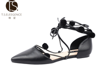 Women's Ankle Strap and Mary Jane Style Ballet Flats party dress shoes for girls