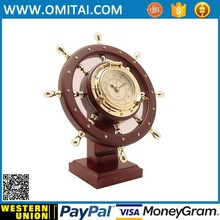 Good Quality alloy globe desk clock For Home Decoration