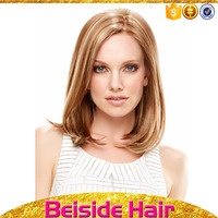 fashion straight wave blond color cheap short bob cut style synthetic hair wigs