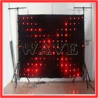 HOT WLK-1P18 Black fireproof Velvet cloth RGB 3 in 1 led curtain backdrop led curtain projector