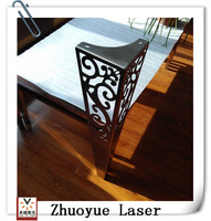 OEM Custom stainless steel table leg fabrication with laser cutting service