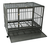 luxury large heavy duty tube dog crate with wheels