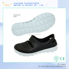 two tone cool black EVA holey sole men shoes