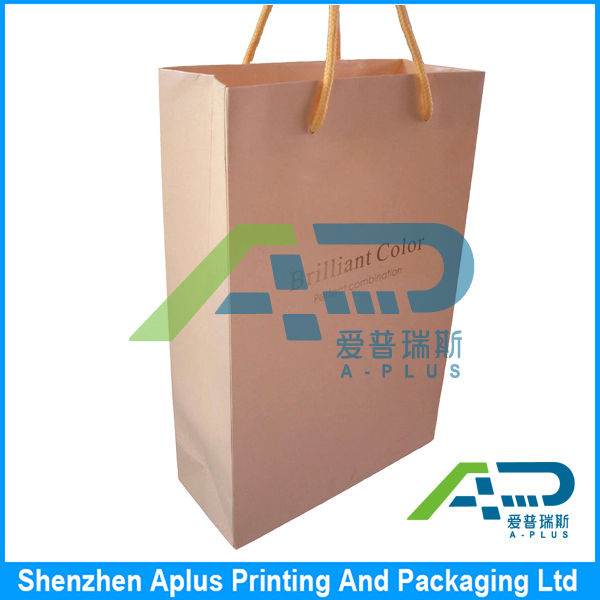 Recyclable Customized blank shopping paper bag