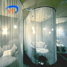 (effect picture)metal mesh curtain,room divider, metal screen for restaurant