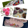 Custom Design Knitted Flower For Shoes