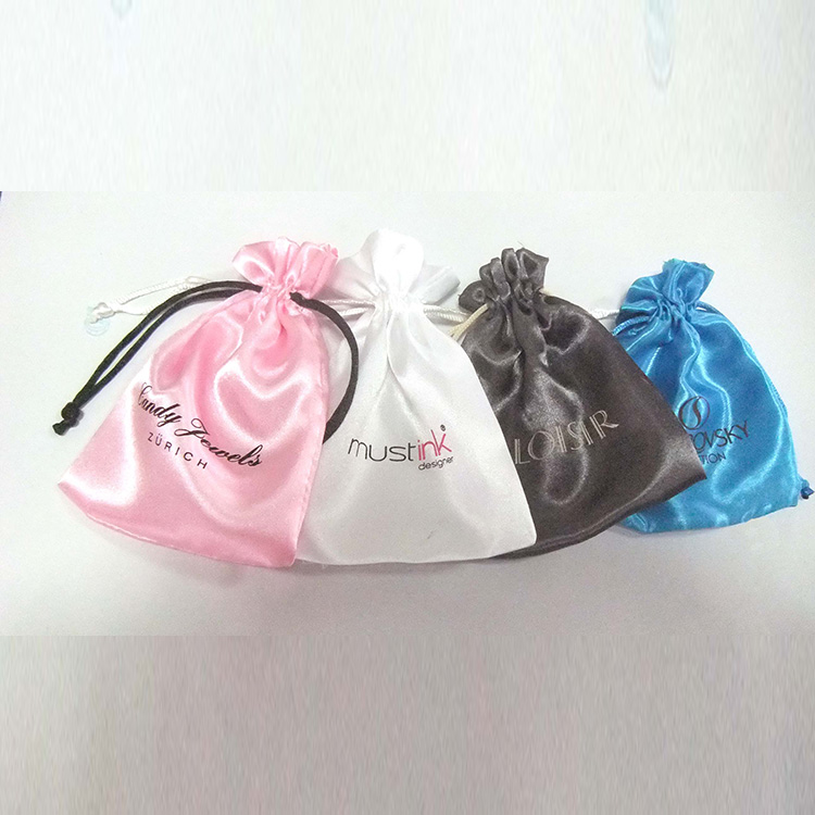 Custom satin bags hair weave bag for hair extensions