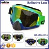 BJ-MG-013A Manufacturer Adult Reflective Brazil Frame Racing Motocross Goggles Roll Off