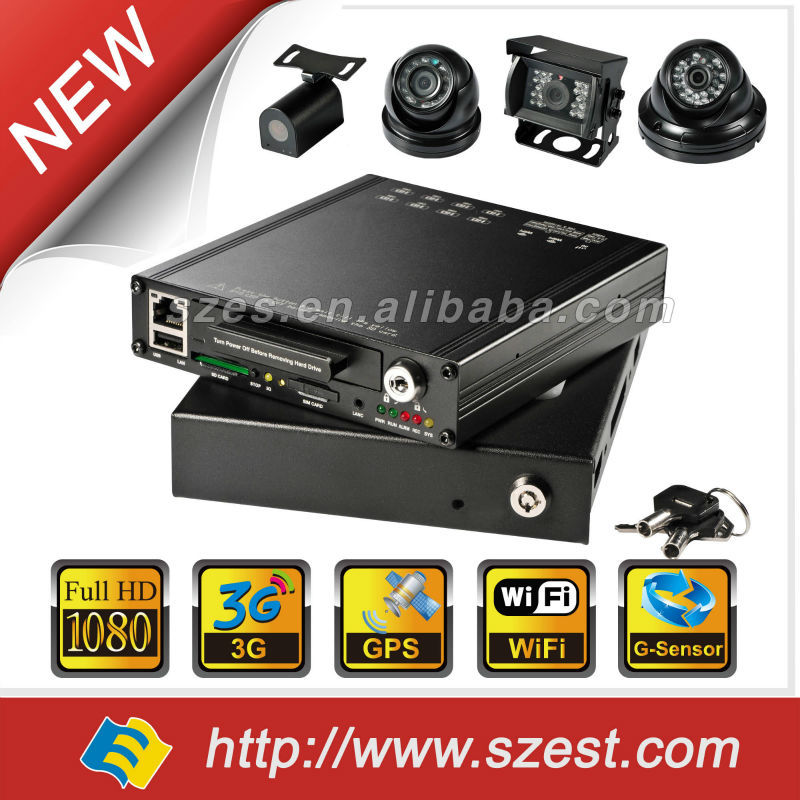 New hot sell 2014 8ch hd 1080P 3G WIFI GPS G-Sensor HDD School Bus /Police car factory price Mobile DVR