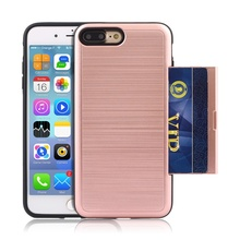 mobile phone case with Credit Card Slot for iPhone 5/SE/6/6s/6 plus/6s plus/7/7 plus
