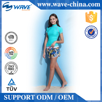 Women Short Sleeve Rash Guard Lycra Rashguard Manufacturer