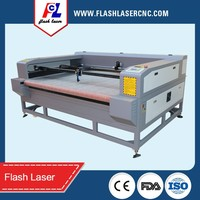 Hot! CO2 automatic textile/fabric/cloth laser cutting machine with auto feeding device for home business
