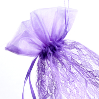 Organza gift bag draw string lace fachion jewellery pouch