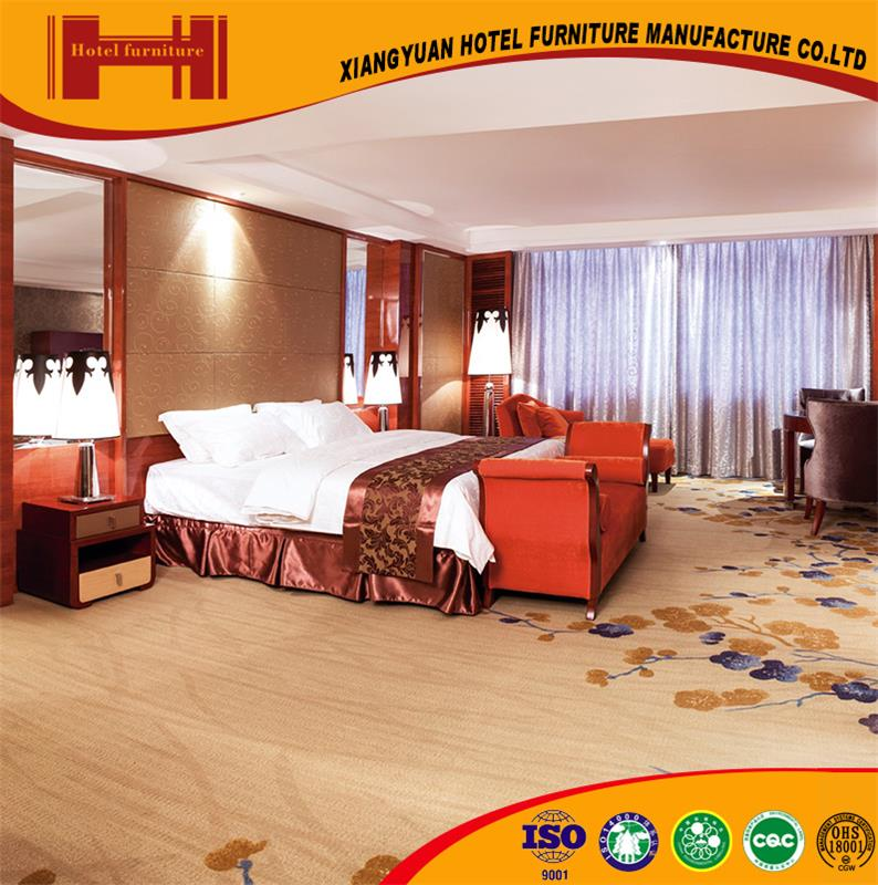 Wholesale hot selling five-star hotel ISO18001 PU leather antique tiger wood furniture