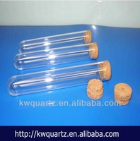 transparent quartz glass 100ml test tubes