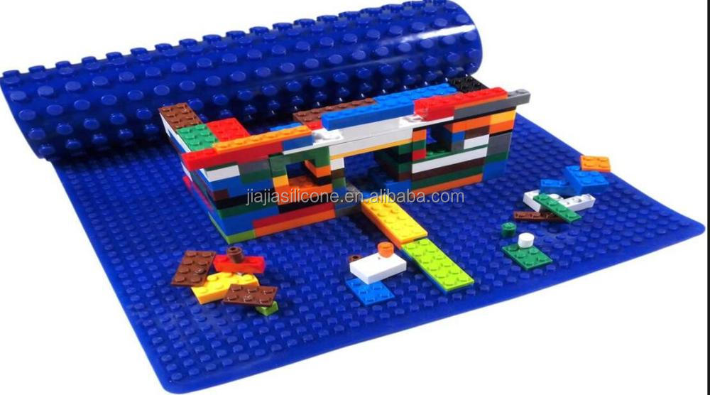 Colorful Decorative Large Customized Silicone Baseplate For Legos Bricks