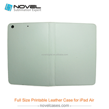 Hot Sale !!! Sublimation leather phone case for ipad air, full size leather case