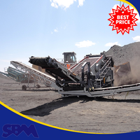 High crushing ratio crawler type mobile jaw crusher plant, used portable rock crusher