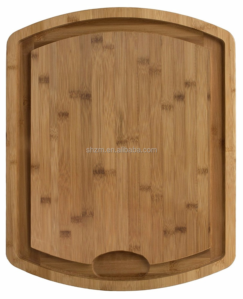100% Premium Bamboo Cutting, Carving & Serving Board with Juice Groove