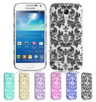 Floral Pattern Hard Back Plastic Case Cover for Samsung Galaxy S4 mini