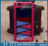 With Russia Flag Shining Diamond Crystal hard case for iPhone 5 Bling Case.WHTS002
