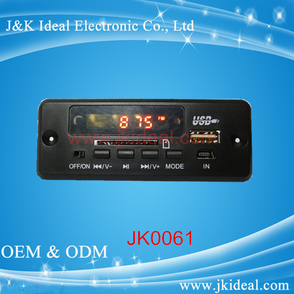 JK0061 fm radio tuner usb sd video music function mp3 mp4 player circuit