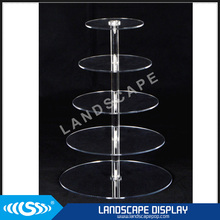 New design acrylic cake display stand / floor standing plexiglass cake display rack