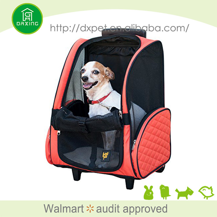 Pet Travel Rolling Luggage Carrier Bag Backpack for Dogs & Cats