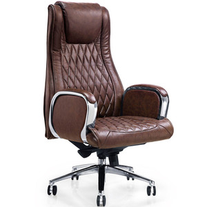 luxury comfortable genuine leather office chair YS1202A high back boss manager chair