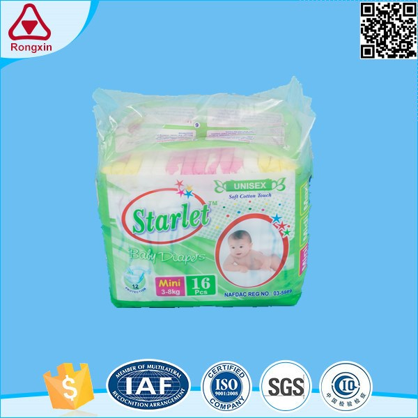 ISO9001 Low Price Comfortable Nappy Stocklots Sleepy Disposable Baby Diaper
